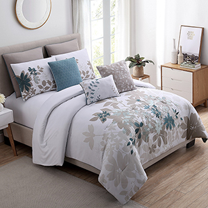 Allure Alana 8 Piece Queen Comforter Set