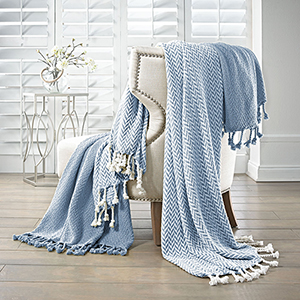 Blue 2 Piece Monacco Throw