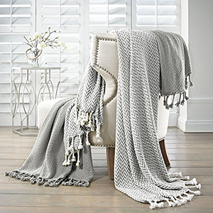 Grey 2 Piece Monacco Throw