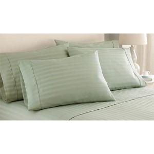Italian Hotel Sage Six-Piece 1000 Thread Count Dobby Stripe King Sheet Set