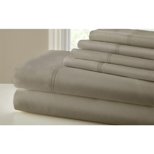 Symphony Taupe Six-Piece 1000 Thread Count King Sheet Set