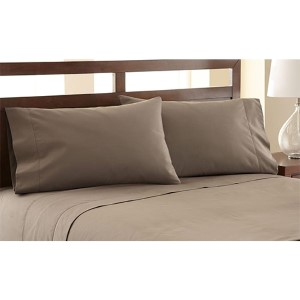 Symphony Khaki Four-Piece 1200 Thread Count Queen Sheet Set