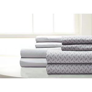 Haight Ashbury Fletch and Silver 8 Piece Cal King Microfiber Sheets