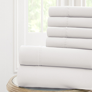 White Nanotex Cool Comfort Queen Six-Piece Sheet Set