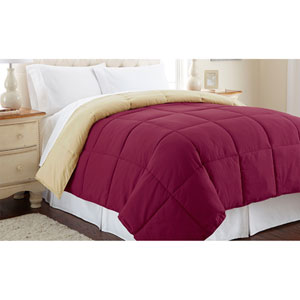 Anemone and Wheat Down Alternative Reversible King Comforter