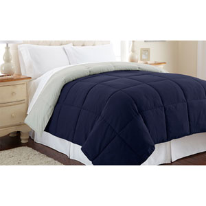 Eclipse and Silver Down Alternative Reversible Twin Comforter