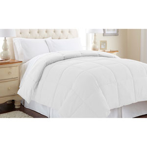 White Down Alternative Reversible Twin Comforter
