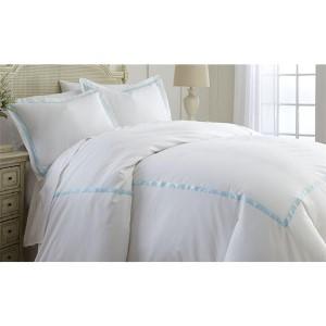 Italian Hotel Blue Three-Piece 600 Thread Count Queen Duvet Set