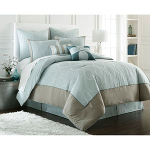 Tropez 8-Piece Blue King Comforter Set