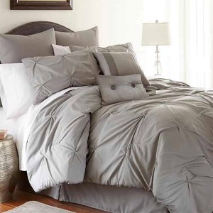 Ella Platinum Eight-Piece Queen Comforter Set