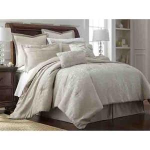 Samantha Ivory Eight-Piece Queen Comforter Set