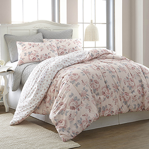 Rosette Queen Six-Piece Comforter Set