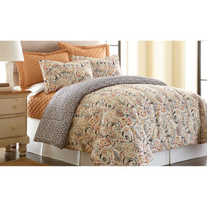 Mavia Multicolor Six-Piece Queen Comforter Set