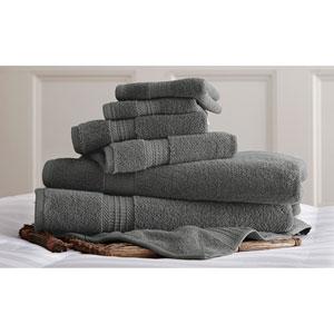 Luxury Spa Gray Six-Piece Cotton Towel Set