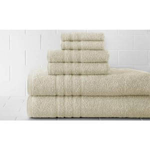 Spa Ivory Luxurious Six-Piece Towel Set