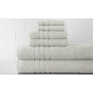 Spa White Luxurious Six-Piece Towel Set
