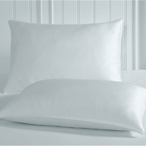 Tailor Fit White Luxury Spa Anti-Static Jumbo Pillow Protector, Set of Two