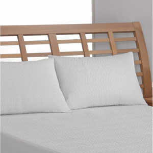 Tailor Fit White Peva Waterproof King Pillow Protector, Set of Two