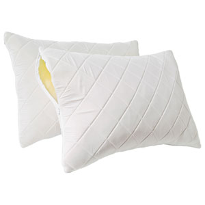 Tailor Fit White Quilted Memory Foam Jumbo Pillow Enhancer, Set of Two