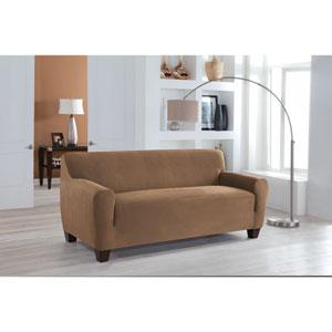 Stretch Fit Camel One-Piece Sofa Slipcover