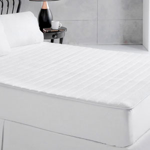 White Plush Memory Foam King Mattress Pad