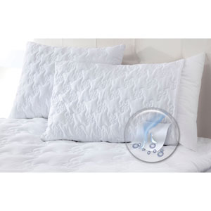 White Fresh and Cool Wicking Jumbo Pillow Enhancer, Set of Two