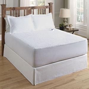 White Sherpa Twin Warming Mattress Pad