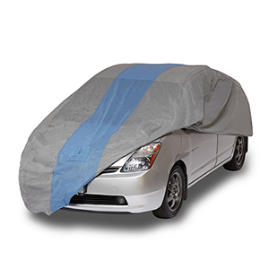 Defender Light Grey and Gulf Blue Hatchback Cover for Hatchbacks up to 13 Ft. 5 In. Long