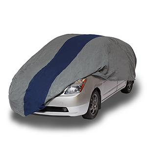 Double Defender Grey and Navy Blue Hatchback Cover for Hatchbacks up to 15 Ft. 2 In. Long