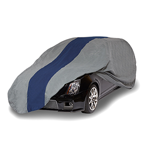 Double Defender Grey and Navy Blue Station Wagon Cover for Wagons up to 15 Ft. 4 In. Long