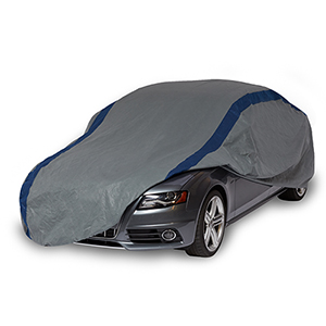 Weather Defender Grey and Navy Blue Car Cover for Sedans up to 13 Ft. 1 In. Long