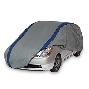 Weather Defender Grey and Navy Blue Hatchback Cover for Hatchbacks up to 15 Ft. 2 In. Long