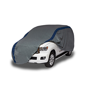 Weather Defender Grey and Navy Blue SUV or Truck Cover for SUVs or Full Size Trucks with Shell or Bed Cap up to 19 Ft. 1 In.