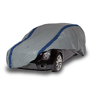 Weather Defender Grey and Navy Blue Station Wagon Cover for Wagons up to 15 Ft. 4 In. Long