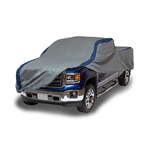 Weather Defender Grey and Navy Blue Pickup Truck Cover for Crew Cab Dually Long Bed Trucks up to 22 Ft. Long