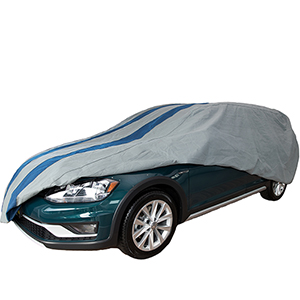 Rally X Defender Grey and Navy Blue Station Wagon Cover for Wagons up to 15 Ft. 4 In. Long