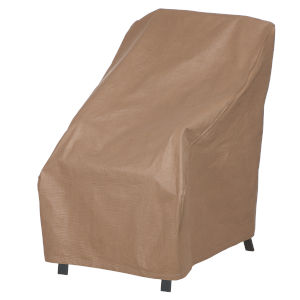 Essential Latte 26-Inch Patio High Back Chair Cover
