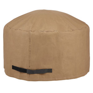 Essential Latte 42-Inch Round Fire Pit Cover
