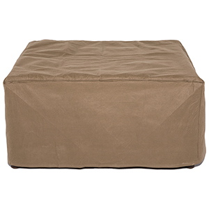 Essential Latte 32 In. Square Patio Ottoman or Side Table Cover