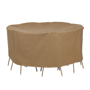 Essential Latte 72-Inch Round Table and Chair Set Cover