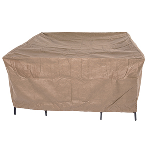 Essential Latte 92 In. Square Patio Table with Chairs Set Cover