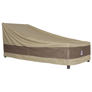 Elegant Swiss Coffee 74 In. Patio Chaise Lounge Cover