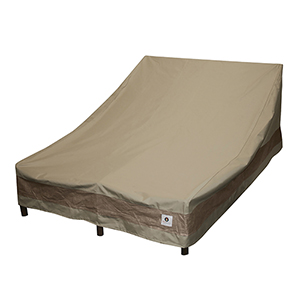 Elegant Swiss Coffee 82 In. Double Wide Chaise Lounge Cover