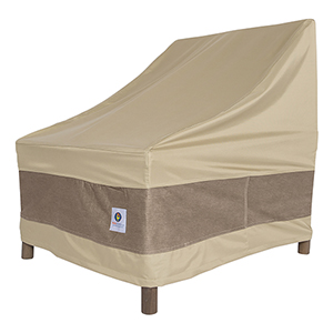 Elegant Swiss Coffee 28 In. Stackable Patio Chair Cover