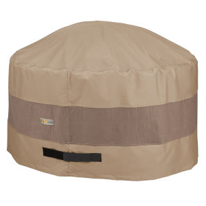 Elegant Swiss Coffee 50 In. Round Fire Pit Cover