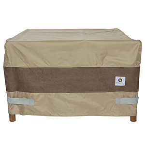 Elegant Swiss Coffee 32 In. Square Fire Pit Cover