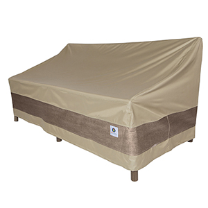Elegant Swiss Coffee 54 In. Patio Loveseat Cover