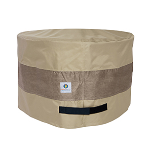 Elegant Swiss Coffee 31 In. Round Patio Ottoman or Side Table Cover