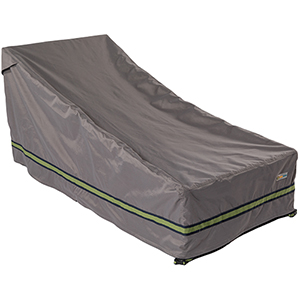Soteria Grey RainProof 82 In. Double Wide Patio Chaise Lounge Cover