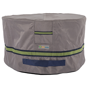 Soteria Grey RainProof 32 In. Round Patio Ottoman or Side Table Cover